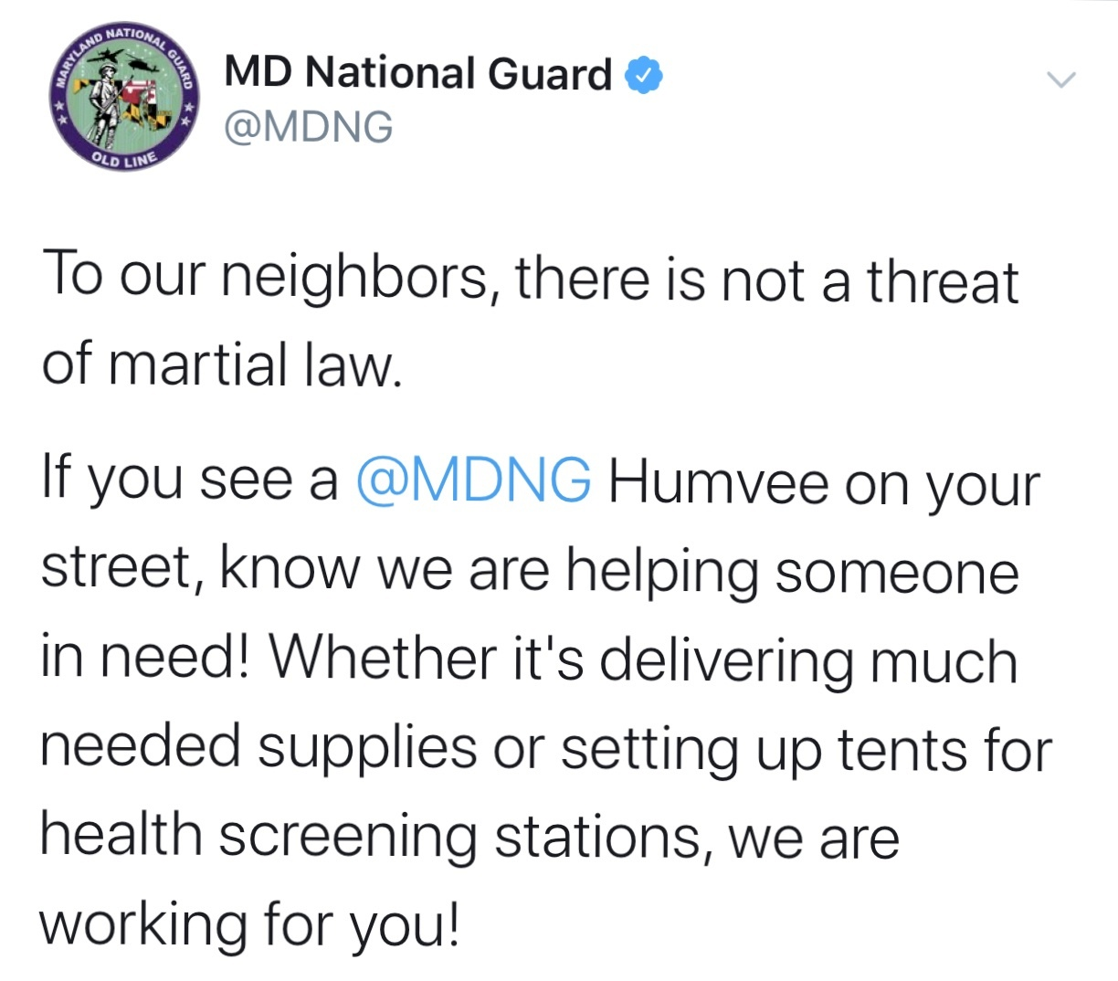 mng maryland national guard tweet virus