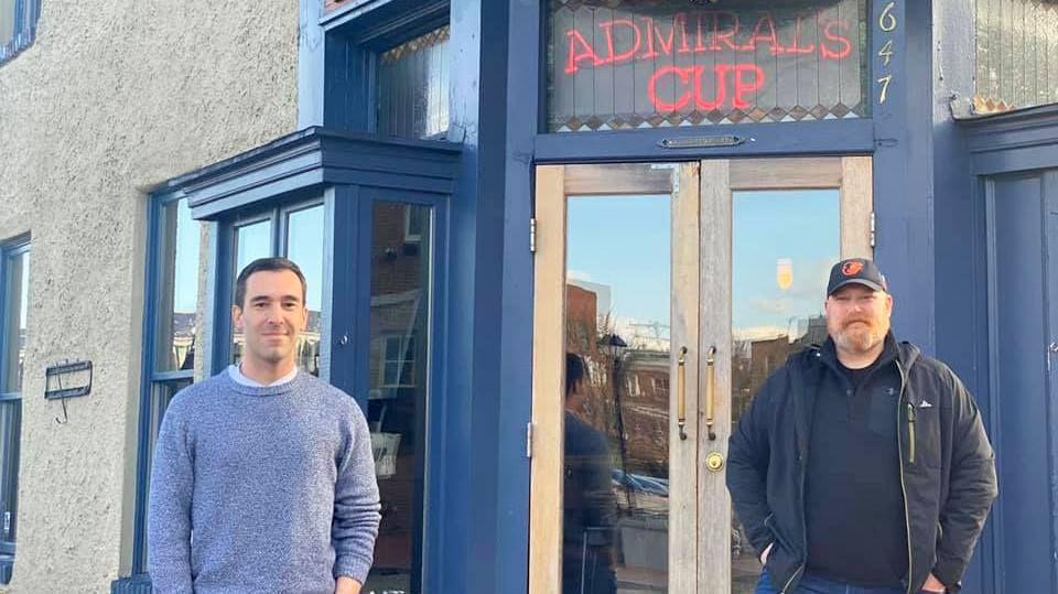 Councilman Zeke Cohen at the Admiral's Cup Bar and Restaurant, one of the establishments voluntarily closing amid the coronavirus pandemic. (Facebook)