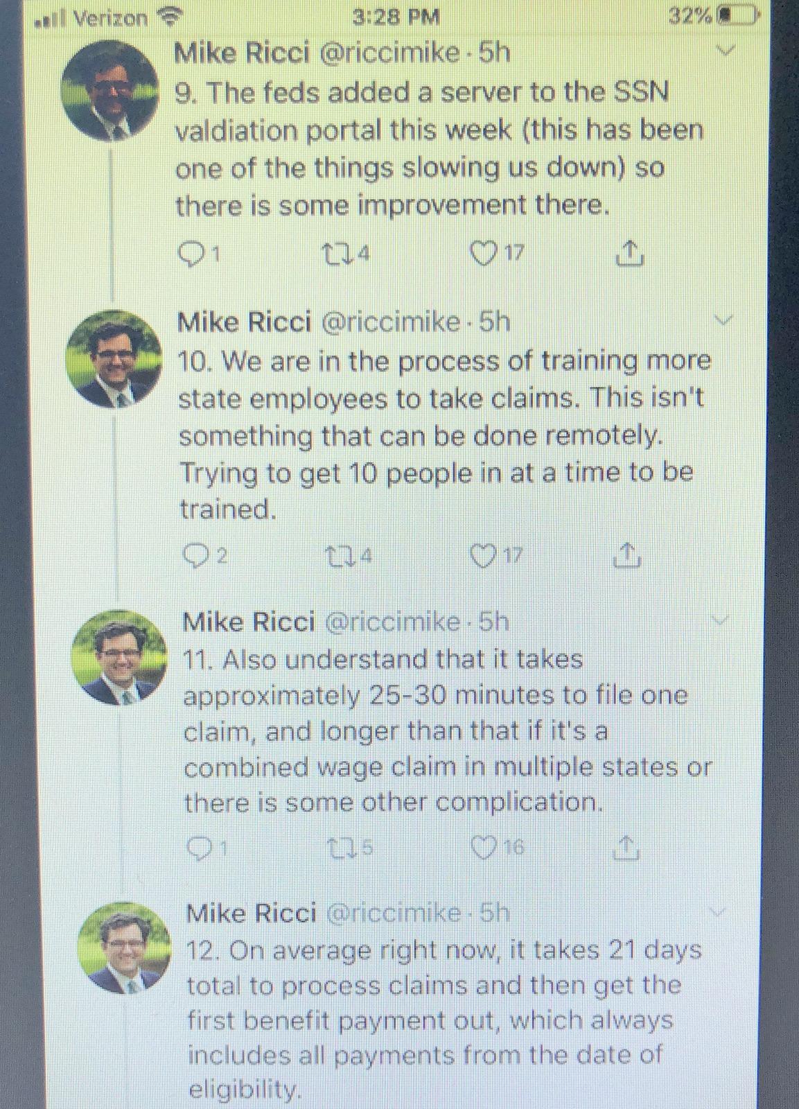 ricci tweets