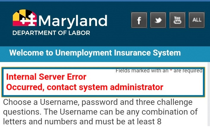 Maryland created a new website to help process jobless claims but it has crashed repeatedly. (Fern Shen)