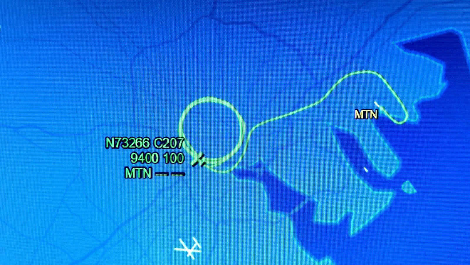The path of the Baltimore Police aerial surveillance plane as it flew over the city on May 2, 2020. (flightaware.com)