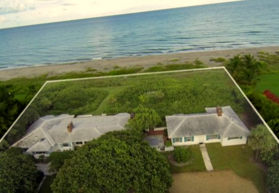 Residence listed for PAC contributor Henry Hopkins, a former colleague of Mary Miller at T. Rowe Price. The oceanfront property at Hobe Sound, Florida, is listed as worth $11.6 million. (bing,com)