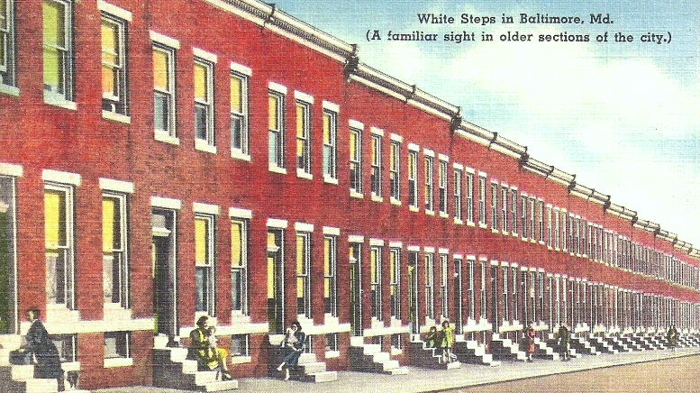 Baltimore's signature dwelling could become a breeding ground for sickness if decisive steps aren't taken by health officials. (vintage postcard, bing.com)