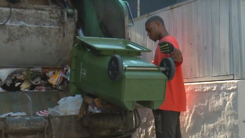 Baltimore city trash collection is collected from 2,000 households a day. (YouTube)