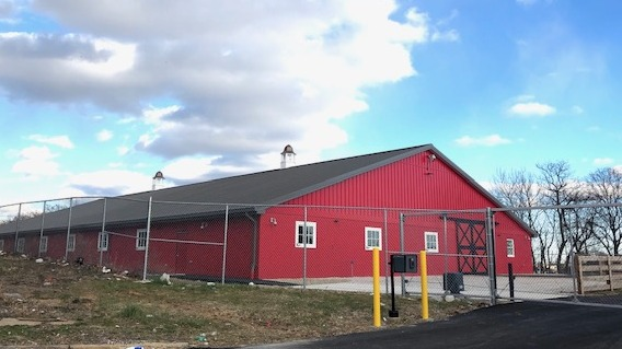 The First Mile Stable built at the B&O Railroad Museum for the Baltimore Police Department's mounted unit. (@SoBoKevin)