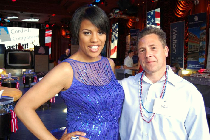 David Applefeld, who filed the suit on behalf of developer Jennings, with former mayor Stephanie Rawlings-Blake at the 2014 International Council of Shopping Centers convention in Las Vegas. (Larry Lichtenauer/Handout photo)