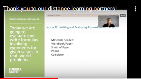From a Baltimore City Public Schools video tanking distance learning partners.