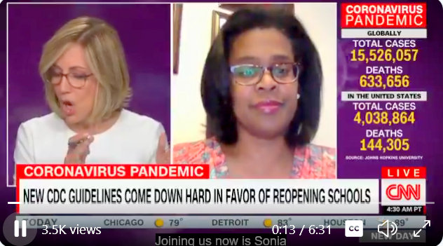CNN interviews Baltimore City Schools CEO Sonja Santelises after CDC releases guidelines favoring school reopening. (cnn.com)