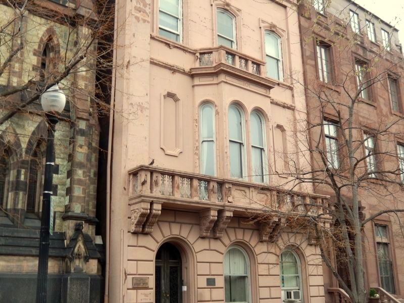 At 10 East Mount Vernon Place, the Asbury House is noted for octagonal parlors and