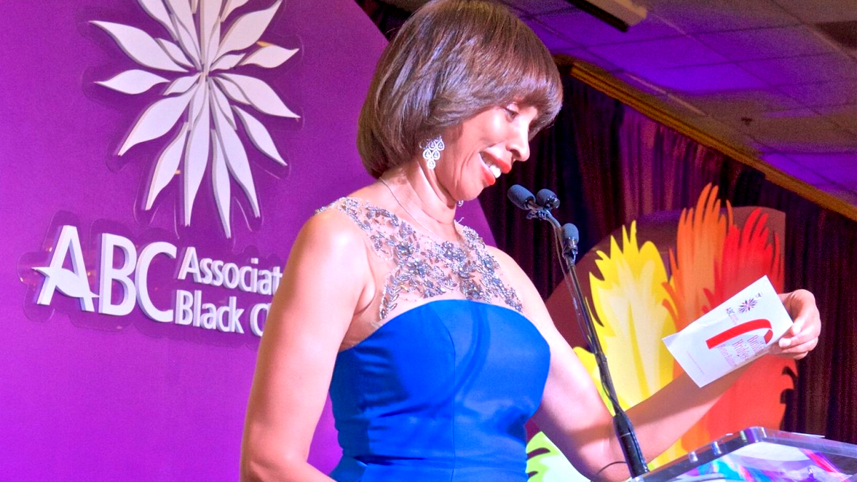 Catherine Pugh takes center stage at the 23017 annual banquet by Associated Black Charities. (Brew file photo)