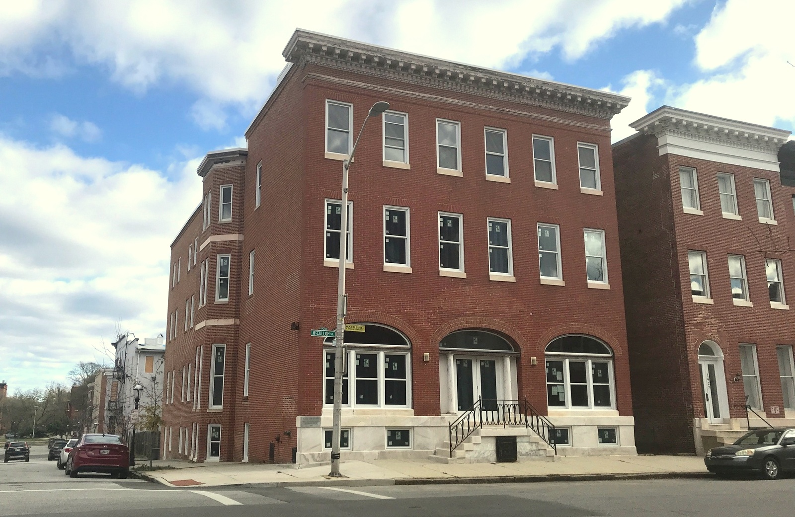 The building at 1429 McCulloh Street was purchased for $94,000 by Bethele Church in 1989. By 2010, it had so deteriorated that it was vacated. With state bond money, new windows have been installed. (Mark Reutter)