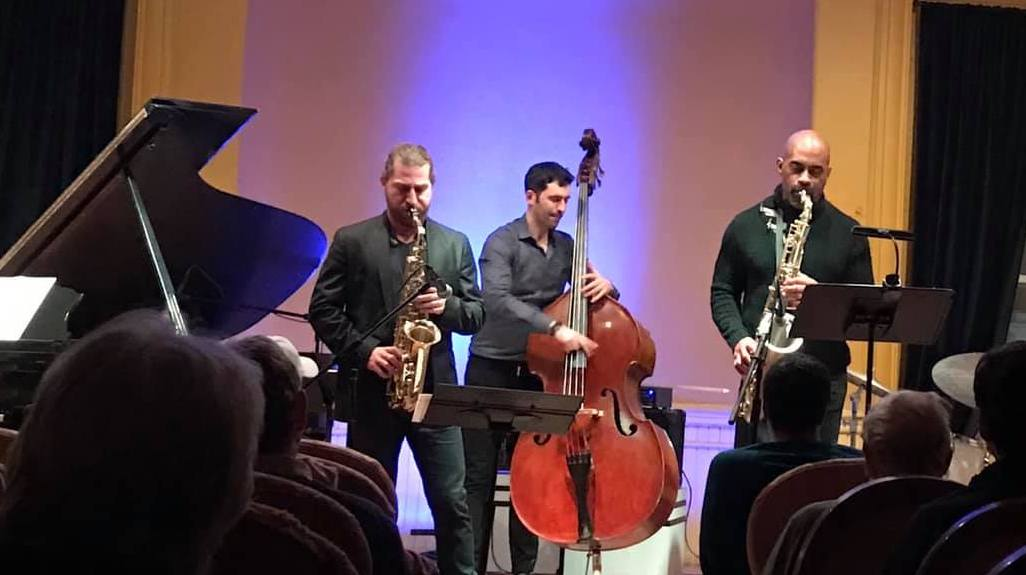 Russell Kirk, Blake Meister and Gary Thomas perform at An Die Musik in February. (Rhonda Robinson)