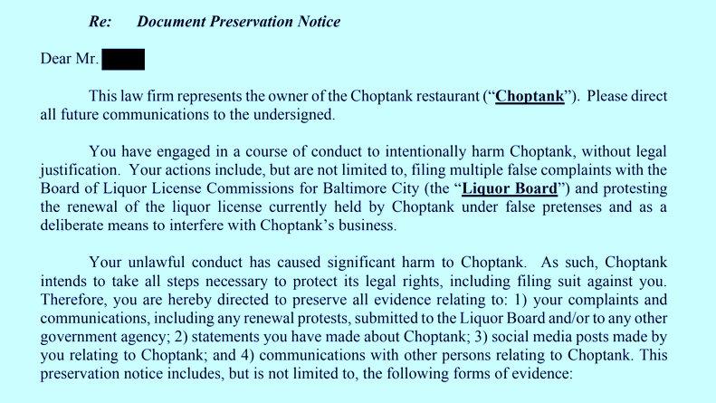 choptank letter 2