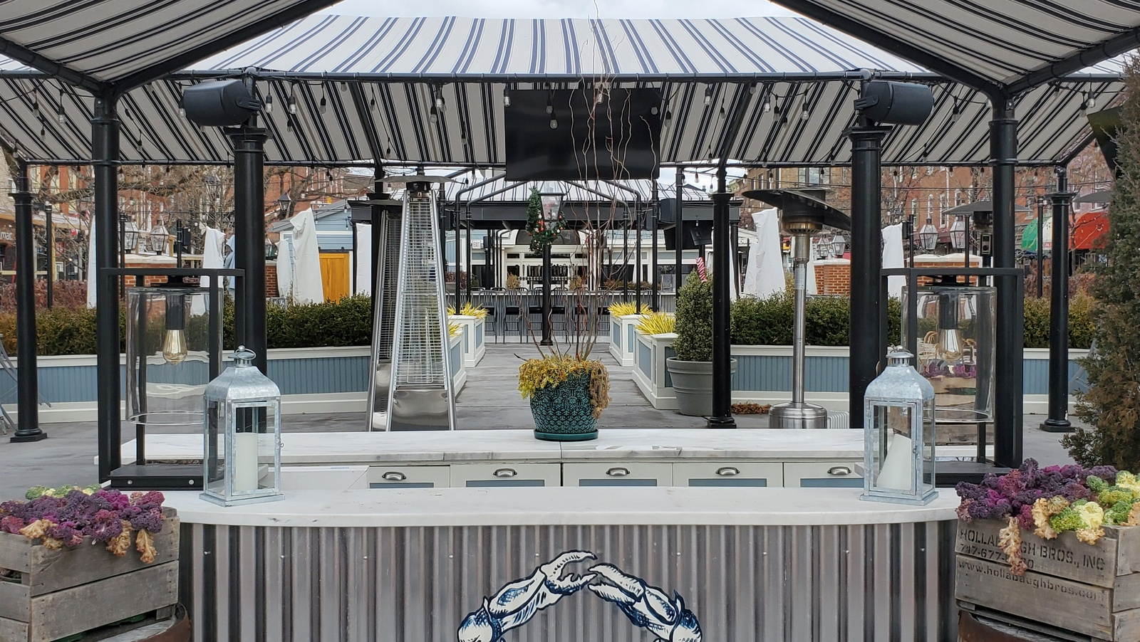 Outdoor space at The Choptank restaurant. (Ed Gunts)