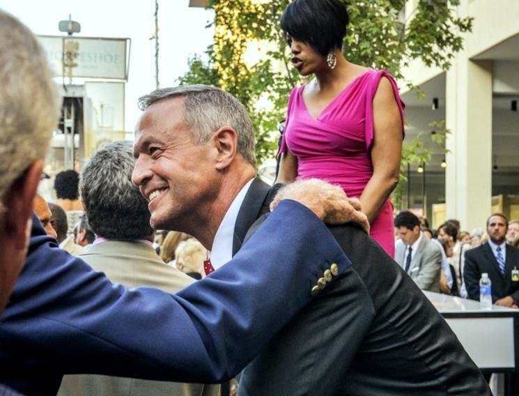 At Horseshoe's 2014 grand opening, Maryland Gov. Martin O'Malley and Mayor Rawlings-Blake greet well-wishers. (Brew file photo)