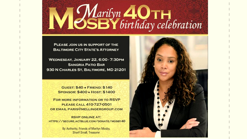 The fundraiser where dozens of scrambled names and addresses were listed on the report that she and her treasurer pledged last month to contain accurate and complete information. (Mosby flyer; January 20, 2021 campaign report)