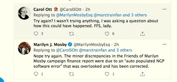 Mosby replies to Carol Ott