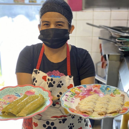 Edith Olguin is one of the cooks behind Concina Luchadora's famous plates. (Concina Luchadora Instagram)