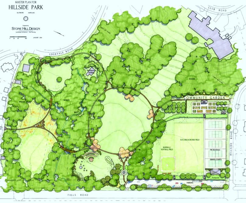 Hillside Park proposed layout