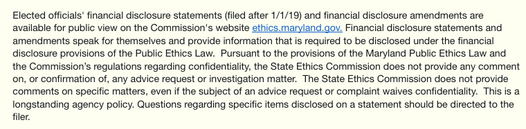 full statement of Ethics Commission