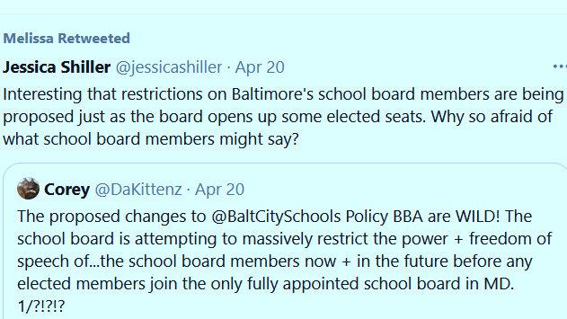 school board twitter comments