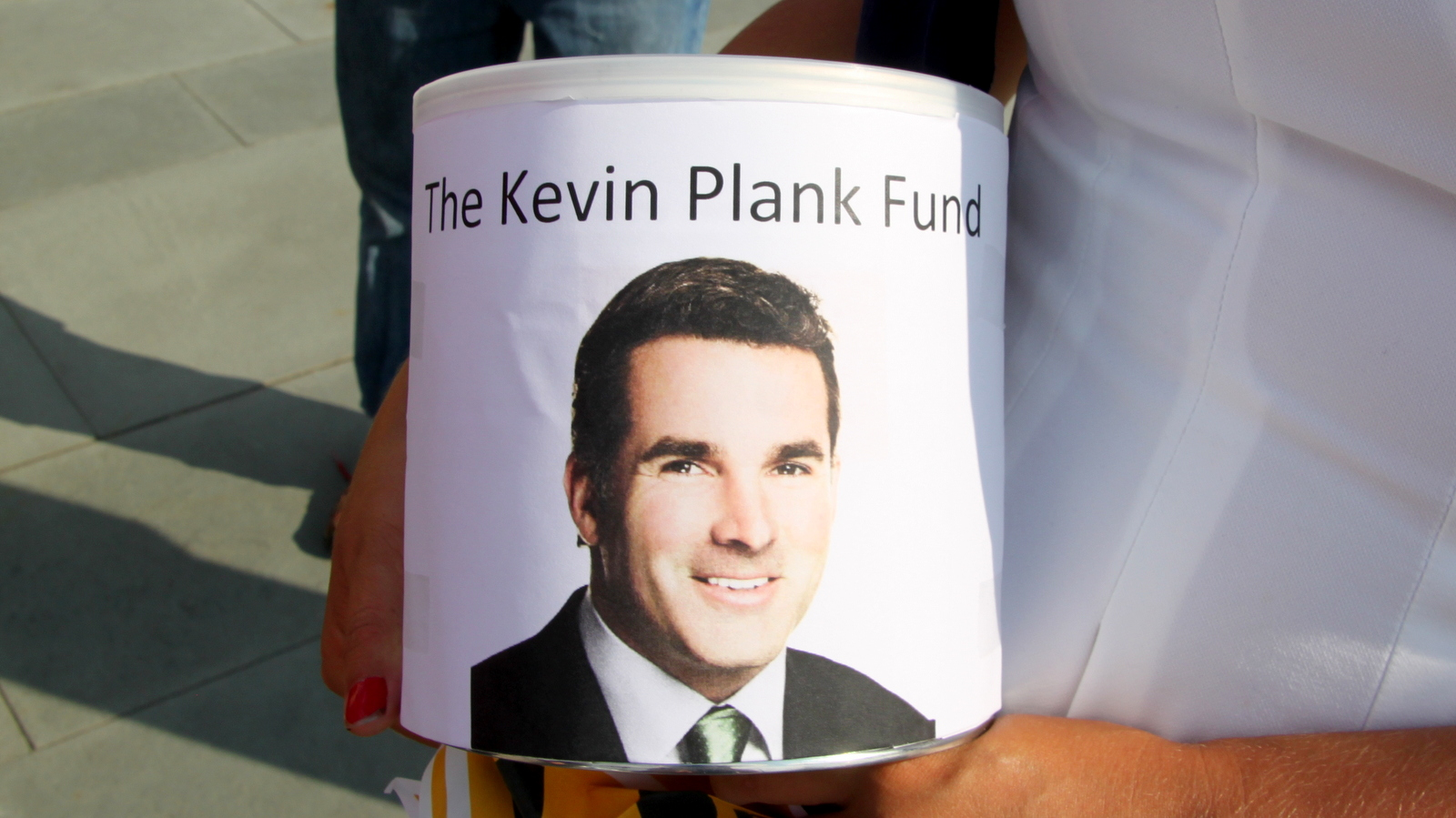 Protesters decried a massive TIF they said would benefit Under Armour CEO Kevin Plank but not most Baltimoreans. (Fern Shen)
