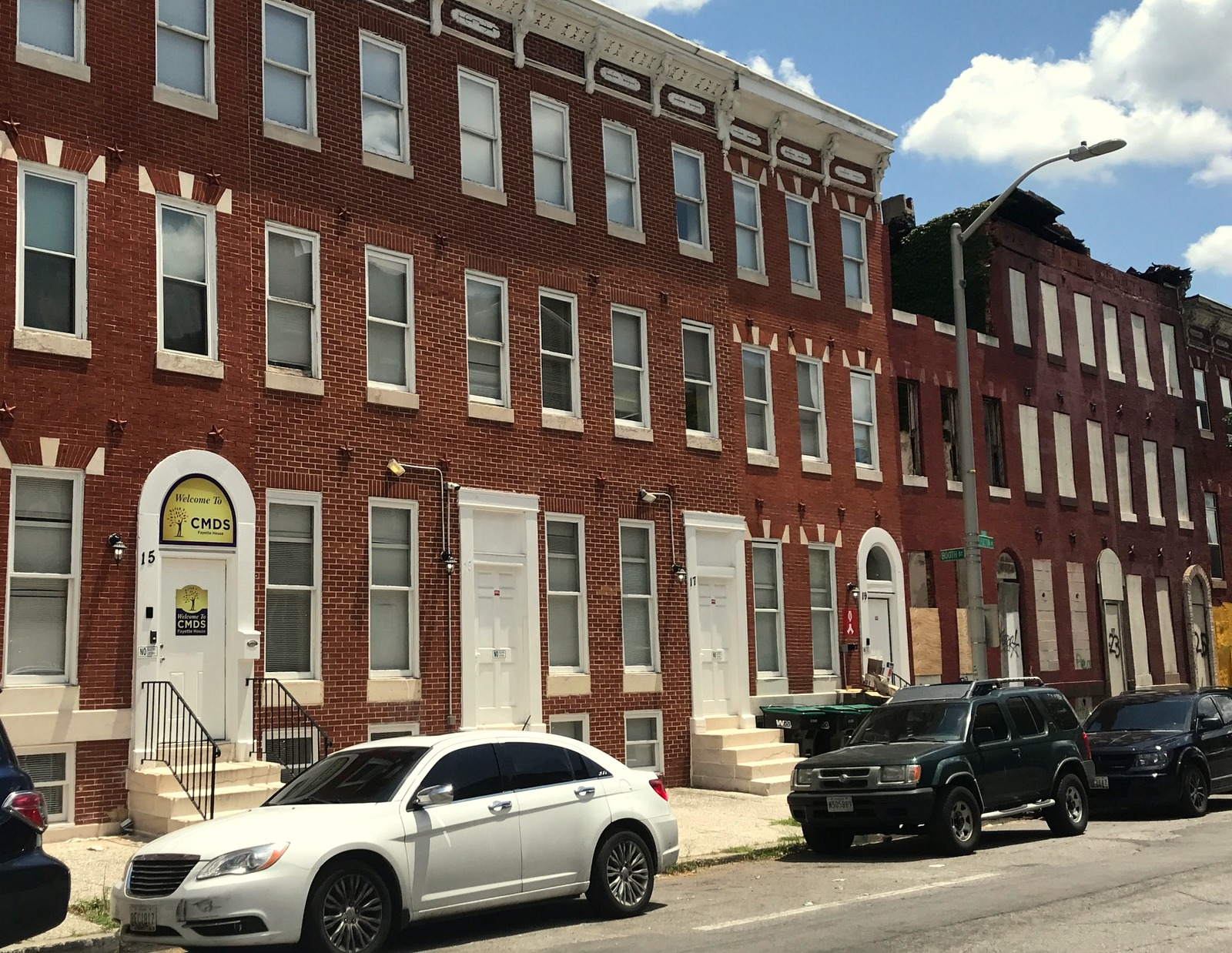 The 56-bed women's facility is located in four rowhouses on South Fulton Avenue. (Mark Reutter)