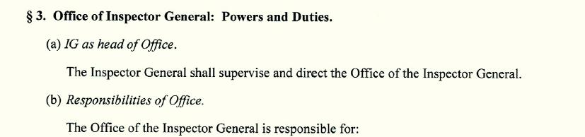 inspector general duties1