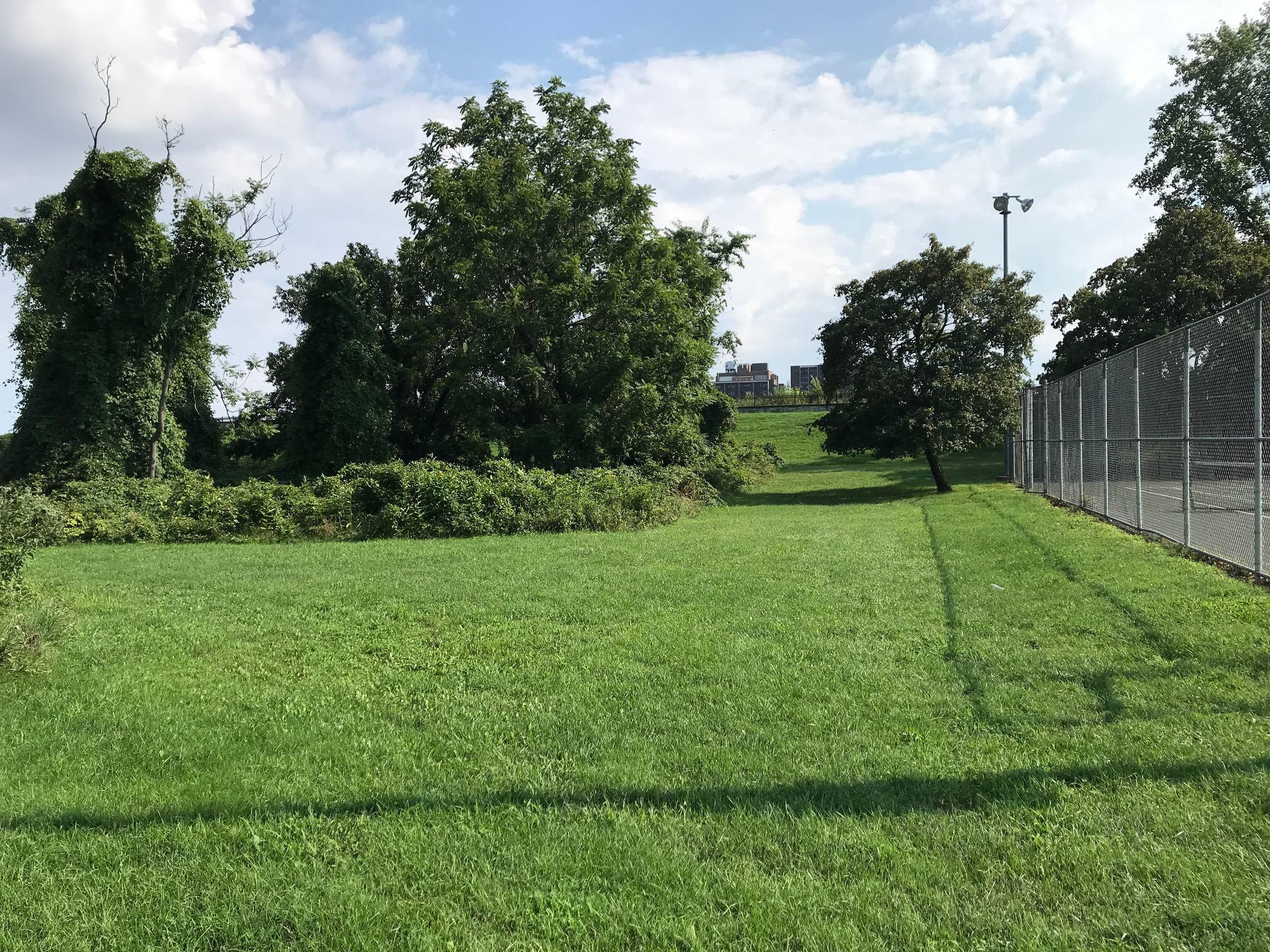 druid hill park parking lot shed site
