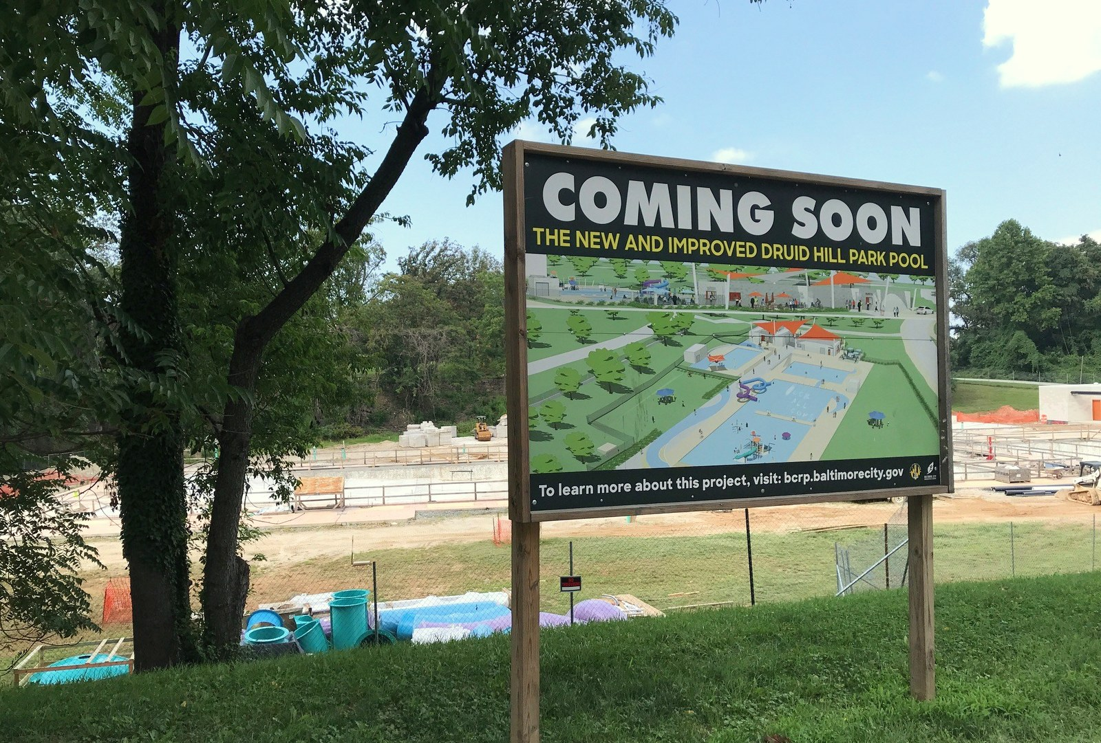 The Druid Hill Park pool under construction by Plano Coudon. (Mark Reutteer)
