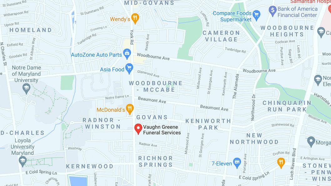 Vaughn Green Funeral Services' York Road location in the Govan neighborhood. (GoogleMaps)