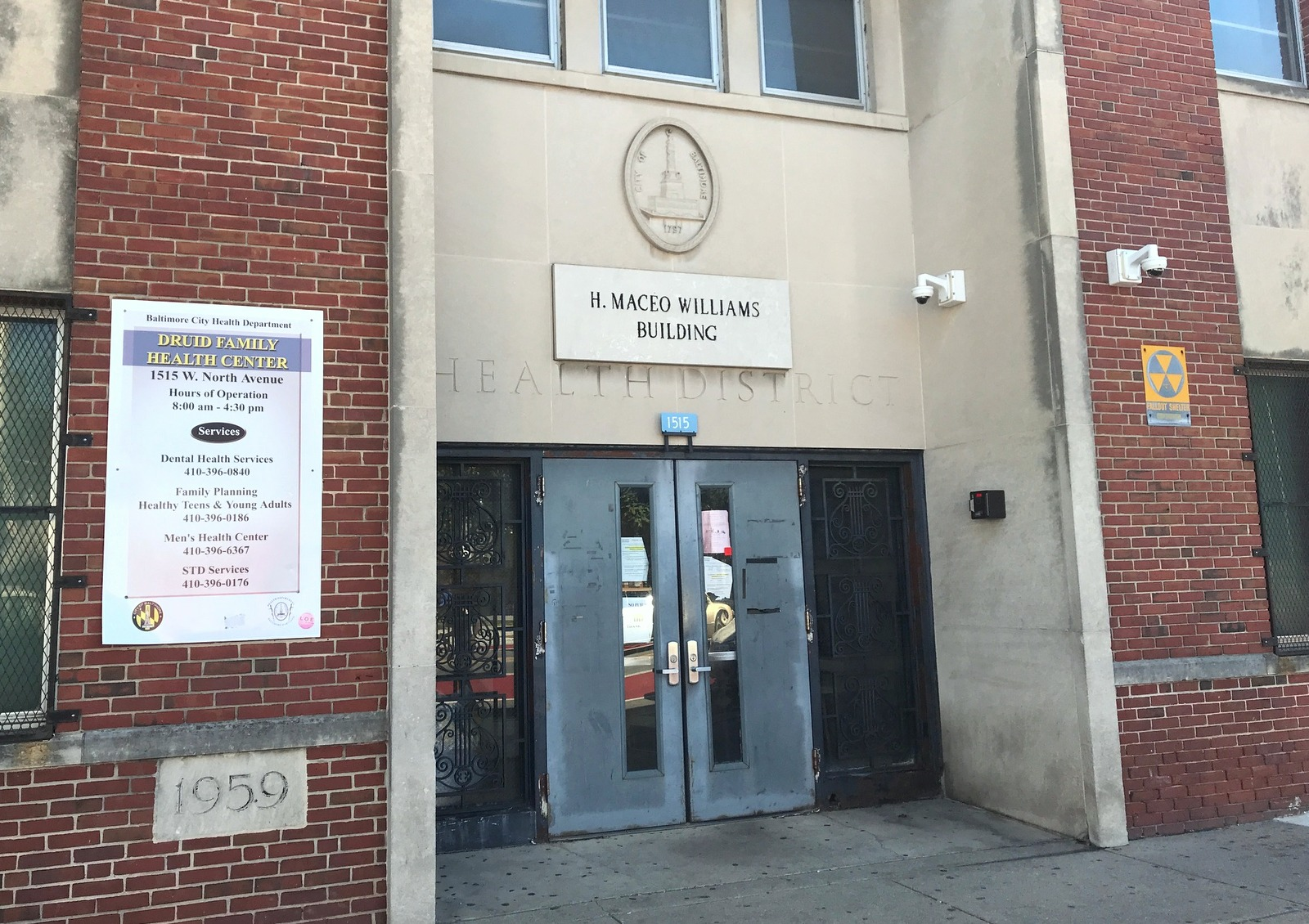 The building is named for the first African-American to be hired for a full-time position by the Baltimore Health Department. (Mark Reutter)