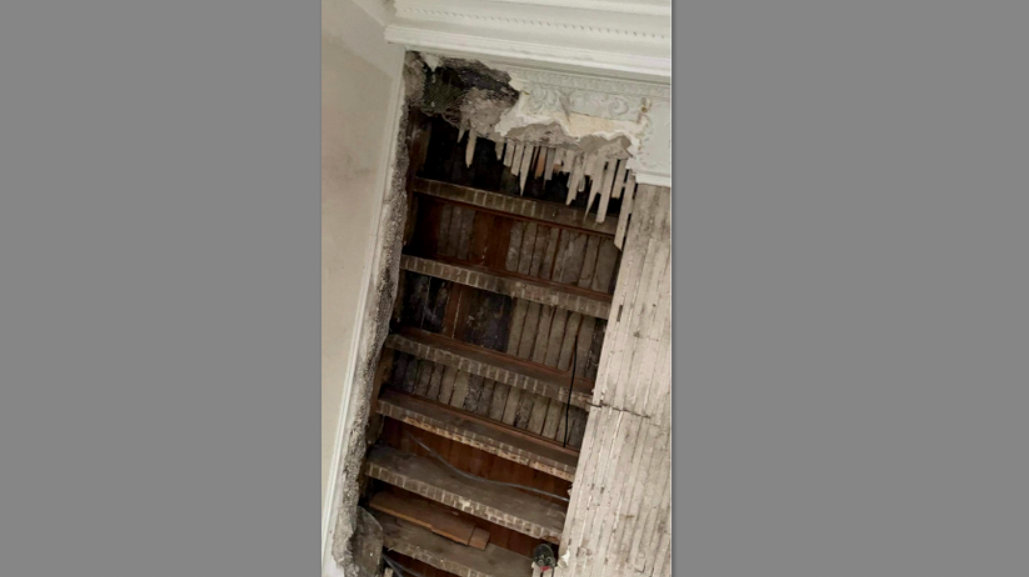 A 4 East Eager street resident's collapse ceiling, posted on Facebook.