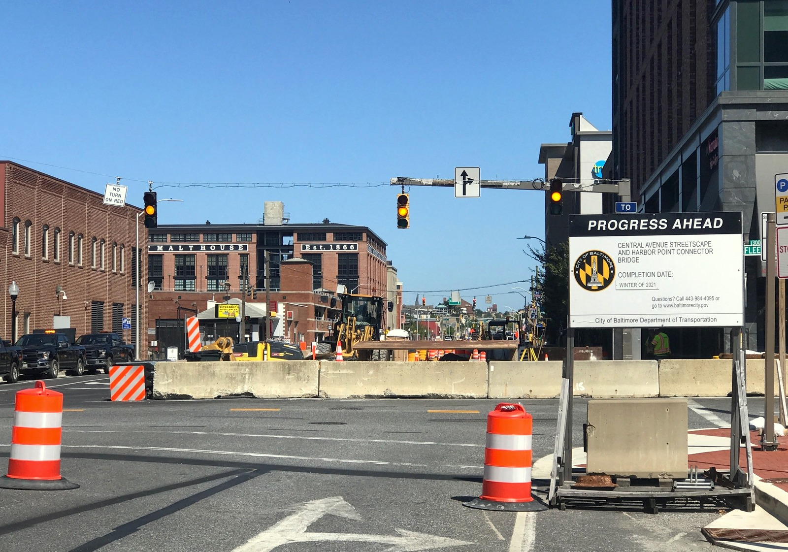North of Fleet Street, the Central Avenue project will lumber on for at least another year. (Mark Reutter)