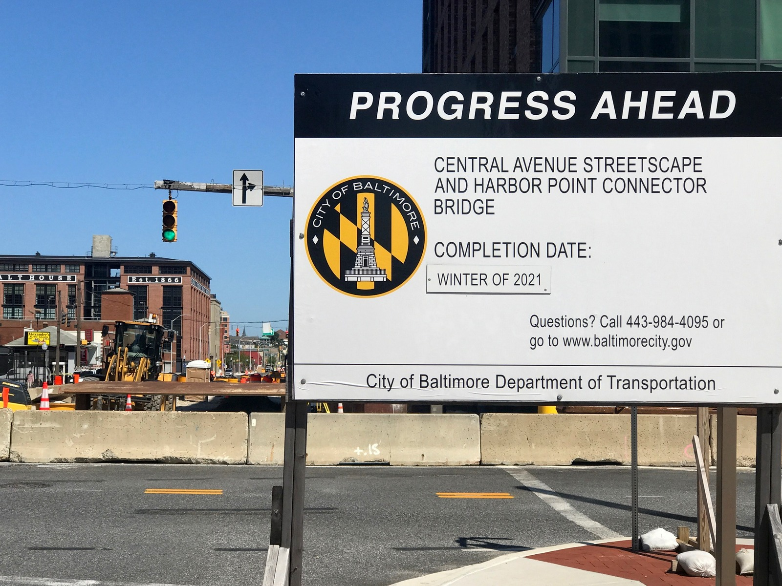 DOT sign notes the completion date as Winter 2020. (Mark Reutter)