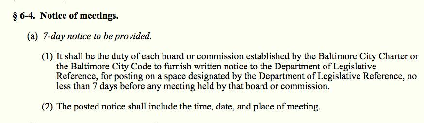article 1 sec 6-4 public meetings