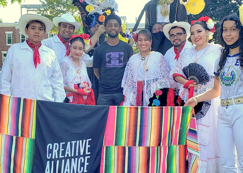 Mayor Scott with Latino Parade celebrants on Sunday. (Twitter)